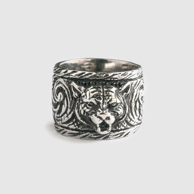 Leopard Tribal Stainless Steel Ring