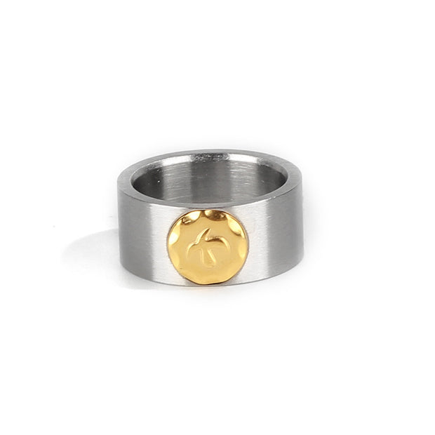 Stainless Steel Thunderbird Stamp Ring