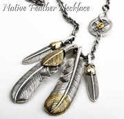 Goro's Classic Style Native American Feather Set Necklace