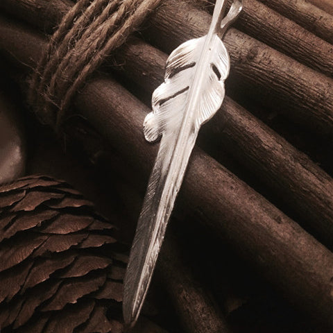 Feather Design 925 Sterling Silver Pendant
