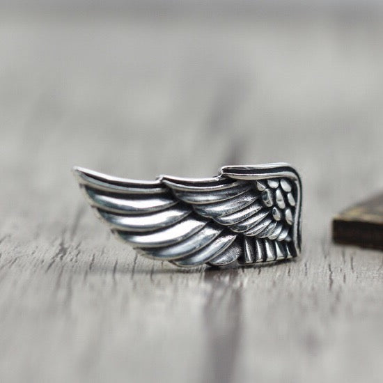 Fallen Angel Wing Solid 925 Sterling Silver Ring