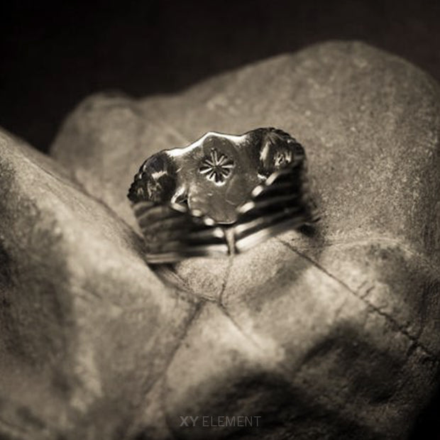 WWII Air Force Pilot Wings 925 Sterling Silver Ring, US Army Air Force Flying Tigers Pilot Badge Ring