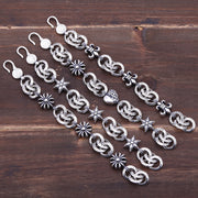 Fleur De Lis Floral Cross Hexagon Star Heart Charms Bracelet Chrome Hearts Style Gothic Punk Rock Unisex Bracelet