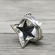 3D Star 925 Sterling Silver Ring