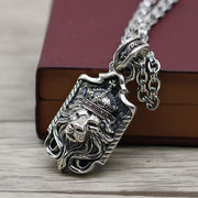 Lion King Crown Solid 925 Sterling Silver Pendant