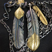 Handcrafted Sterling Silver Native American Feather Pendant Necklace