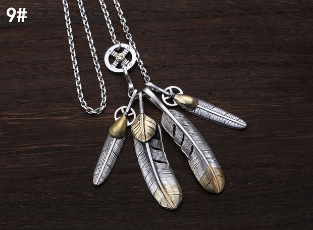 Silver Feather Necklace Set Goro Takahashi Style