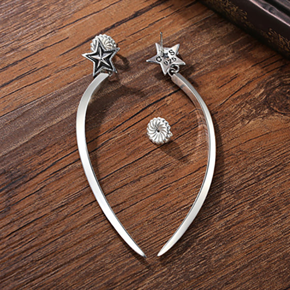 Shooting Star Dangling 925 Sterling Silver Earrings