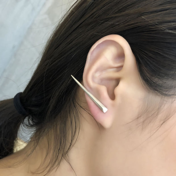 Minimalist Geometric Spike Stick Ear Stud Earring