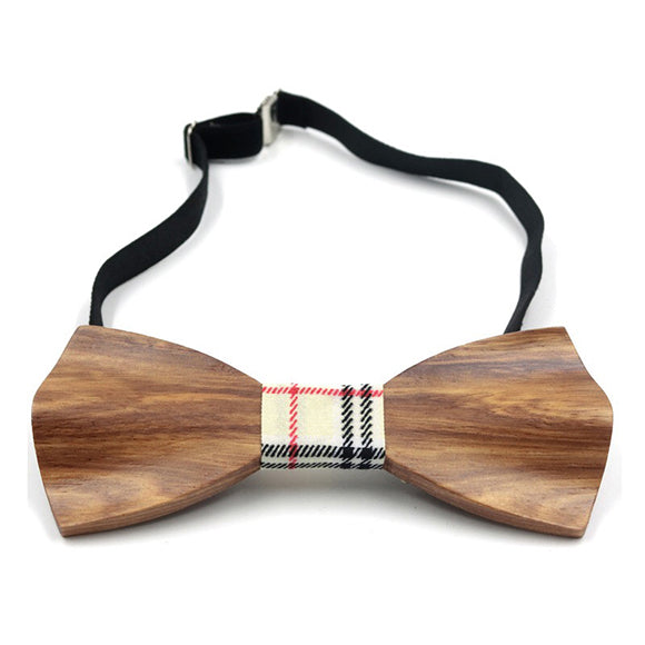Trendy 3D Wooden Bow Tie