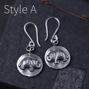 Sterling Silver Elephant Leaf Hook Earrings [3 Styles]