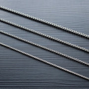 Titanium Steel Rolo Cable Wheat Chain