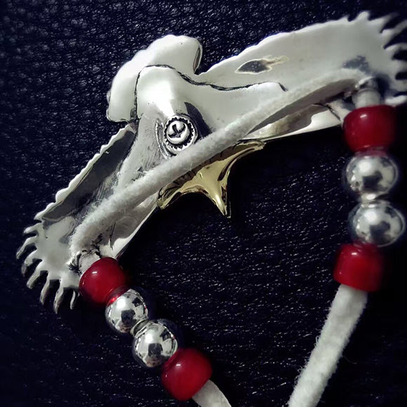 Takahashi Goro's Native American Style Spread Eagle Sterling Silver Necklace