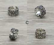 Chrome Hearts Style Ring 925 Sterling Silver Biker Ring Punk Rock Gothic Ring