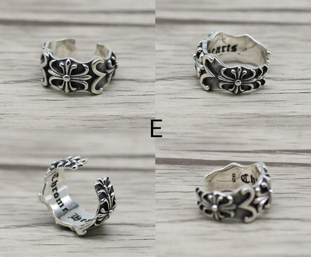Chrome Hearts Style Ring  Biker Ring Punk Rock Gothic Ring II