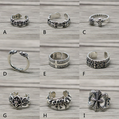 Chrome Hearts Style Ring  Biker Ring Punk Rock Gothic Ring III