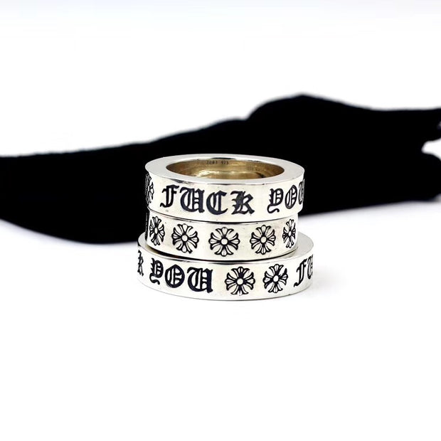 F*CK YOU Letters Ring