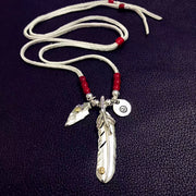 Goro's Style Eagle Claw Feather 925 Sterling Silver Necklace