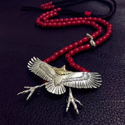 Takahashi Goro's Native American Style Spread Eagle Claw S925 Sterling Silver Necklace