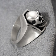 G.B. Style Skull Ring Gothic Punk Rock Biker Ring 925 Sterling Silver