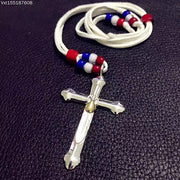 Takahashi Goro's Style 925 Sterling Silver Cross Pendant Necklace