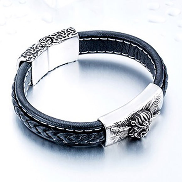 Monkey King Bracelet, Premium Quality Leather Titanium Steel