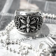 Classic Chrome Hearts Oval Star Ring