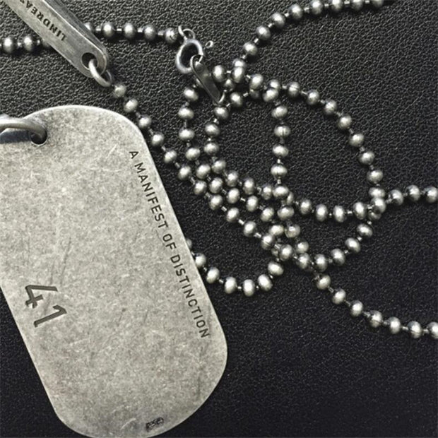 Vintage Style Dog Tag Titanium Necklace