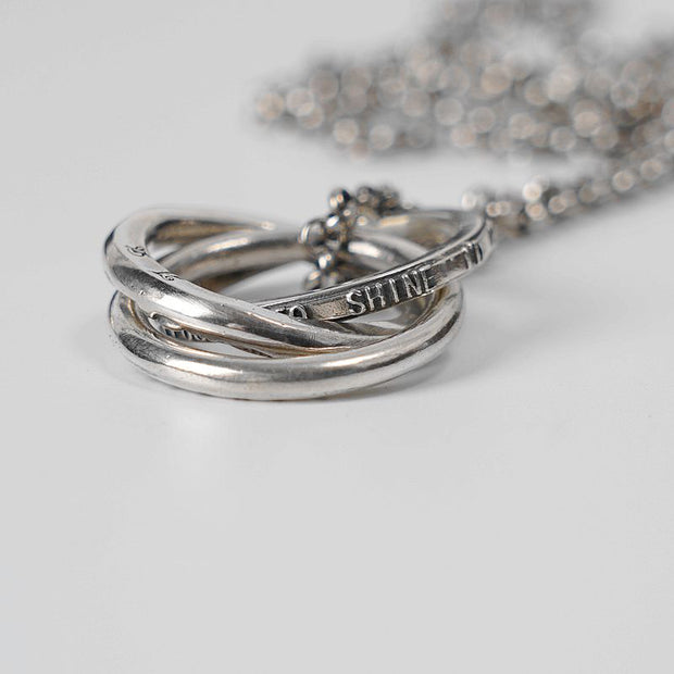 Minimalist Forever Engraved Ring Necklace