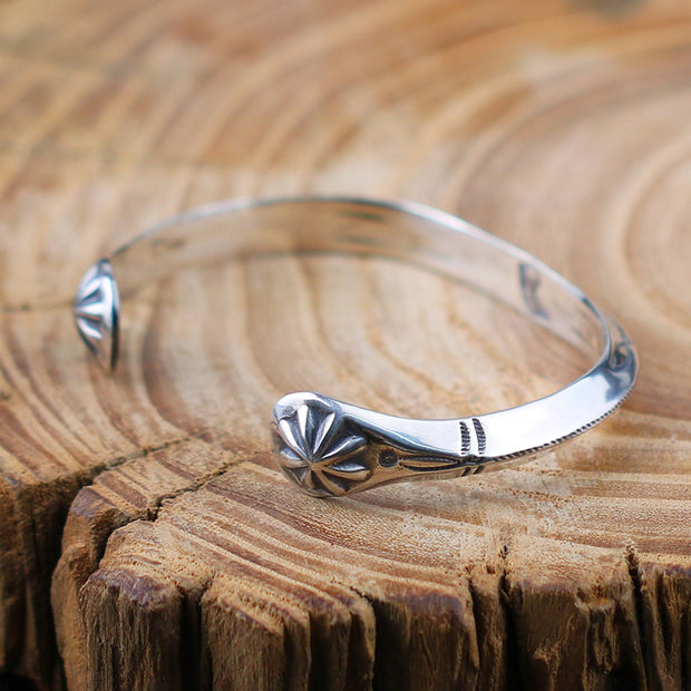 Silver Thunderbird Western Bangle Cuff Bracelet | Native American Style