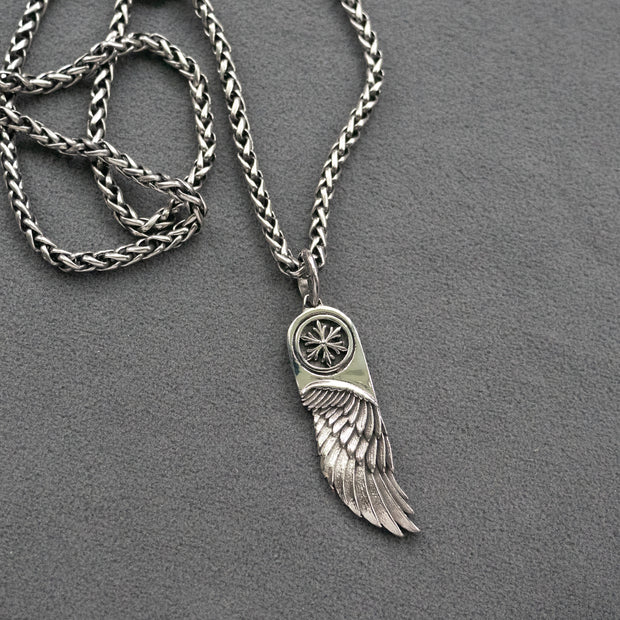 Eye of Horus Necklace | Egyptian Pendant | Angel's Wing Pendant Necklace | 316 Stainless Steel Necklace | Men's Jewelry | Gift for Men