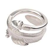 Silver Arrow Feather Ring Native American Indian Arrow of Brave