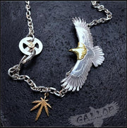 Japanese Celebrity Style Spread Eagle Silver Pendant Necklace