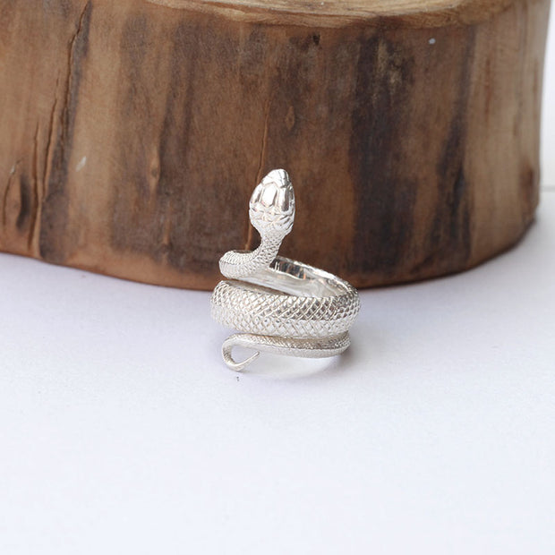 Viper Serpent Snake Ring Adjustable Little Finger Ring
