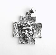 Jesus Christ Cross Pendant Solid 925 Sterling Silver Necklace