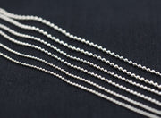 Italy Classic Silver Ball Chain 2.0mm 2.5mm 3.0mm