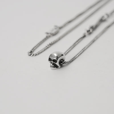 Minimalist Mini Skull + Bones Necklace