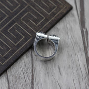 Chrome Hearts Style Knuckle Ring Solid 925 Sterling Silver