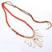 Red Tailed Eagle Feather Pendants Solid 925 Sterling Silver