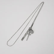 Minimalist Silver Cross Peace Bar Necklace