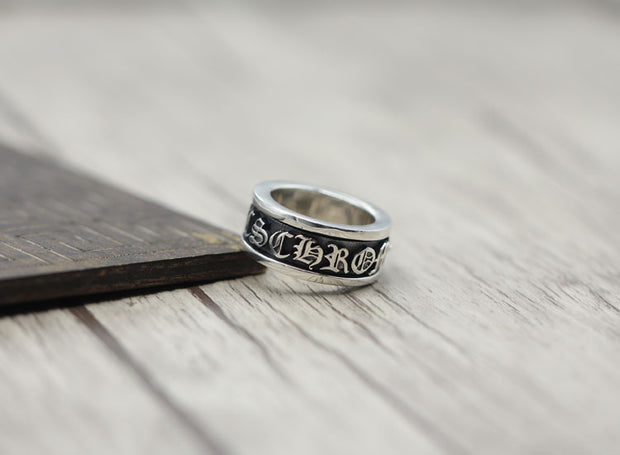 CH Letters Ring 925 Sterling Silver