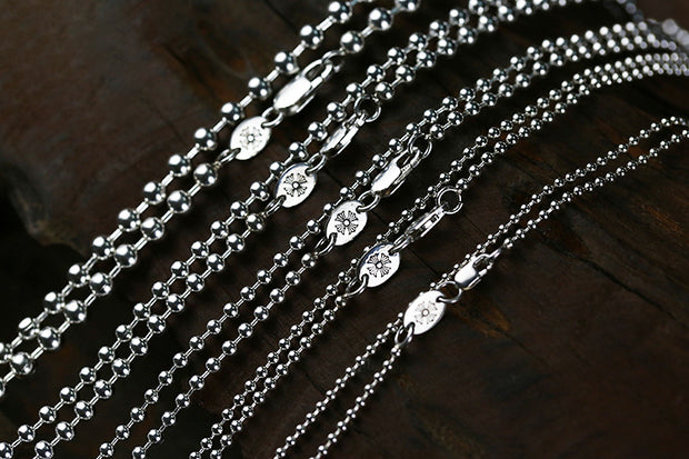 CH Style 2015 Edition Silver Ball Chain 2.5mm 3.0mm 4.0mm 5.0mm