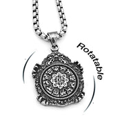 12 Asian Zodiac Guardians 2-Sided Rotatable Titanium Steel Pendant Necklace