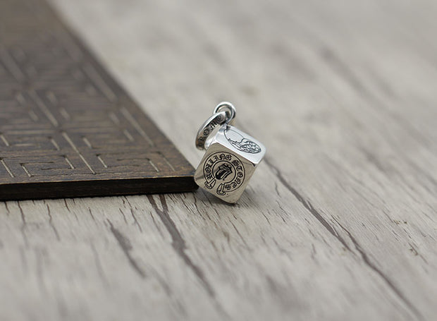 Dice Cube Charm Pendant Pendant 925 Sterling Silver