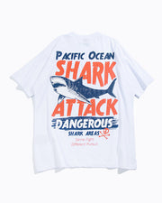 Pacific Ocean Shark Attack Graphic Tee