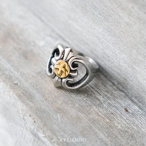 Goro's Style Floral Titanium Steel Ring