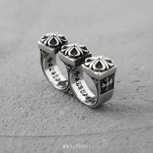 Cross Double Ring Premium Titanium Steel