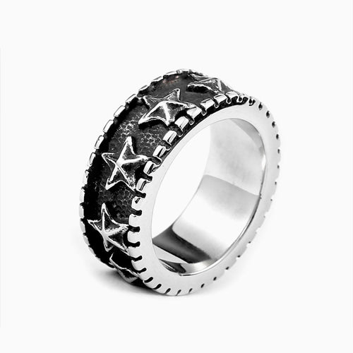 Titanium Steel Star Ring