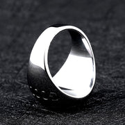 Four Leaf Clover Good Luck Titanium Ring
