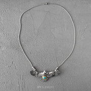 Goro's Style Spread Eagle Turquoise Decal Titanium Necklace